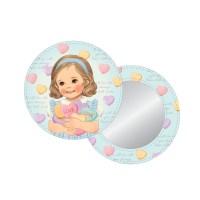 아기자기 귀여운 페이퍼돌 메이트 손거울 특가!