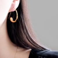 (92.5 silver) modern flow earring