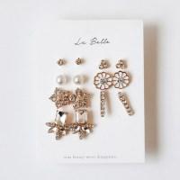 [La Belle] 스노우 블로썸 귀걸이SET (무니켈침)