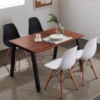 프리코 멀바우 스틸 1200 식탁 / 테이블 / 책상