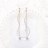 [La Belle] 웨이브 진주 귀걸이