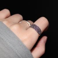 자수정 볼드 레이스 반지(2월탄생석)