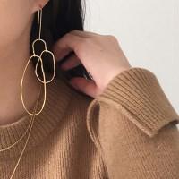 Pinion drop earring