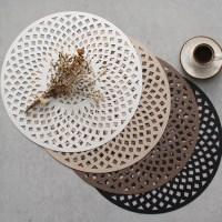 로뎀 원형 테이블(식탁) 개인매트 (4color)_(1413088)