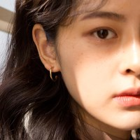 simple ring earrings (2colors)