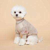 플로트 강아지옷 플러피후리스 맨투맨 -베이지_(752123)