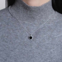 (92.5 silver) onyx necklace