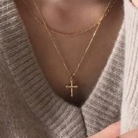 [Silver925] Mini cross necklace