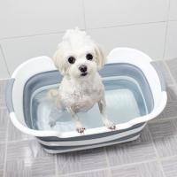 [공간활용 갓샵 강아지 3단접이식욕조] 애견폴딩목욕통