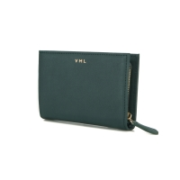 TONA ZIPPER WALLET - DEEP GRREN
