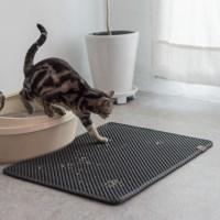 묘심 고양이 화장실 매트 블랙홀리터매트 사각대형 75x56