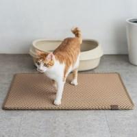 묘심 고양이 화장실 매트 블랙홀리터매트 특대 베이지 90x65