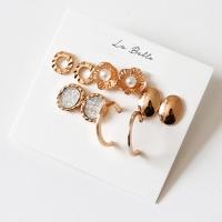 [La Belle] 빈티지 골드 귀걸이 set (무니켈침)