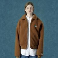 [Ncover] Rubber fleece jacket-camel