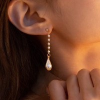 preal water drop earrings