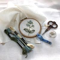 [텐텐클래스] (혜화) 프랑스자수로 만드는 꽃자수 손수건