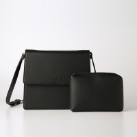 Trapezoid Cross Bag (Black) - P007C_BK