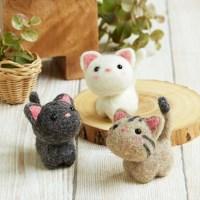 하마나카 리얼양모 작은고양이친구들 니들펠트 키트