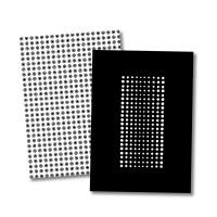 블랙 패턴 노트(모눈)_C,D