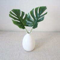 미니 몬스테라 인테리어 조화잎장식