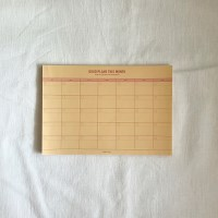 monthly planner_vintage yellow