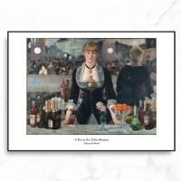 인테리어 명화 캔버스 액자 포스터 마네 폴리 베르제르_(1909313)