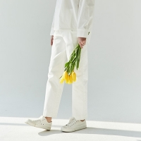 ONE TUCK COTTON PANTS