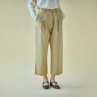 TWO TUCK COTTON PANTS