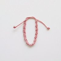 KN5. Pink 01 dried rose 실팔찌 핑크