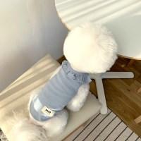 [T.마카롱프릴민소매]Macaron frill sleeveless T_Skyblue