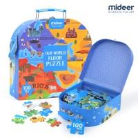 [MIDEER] 미디어 세계지도 퍼즐 놀이가방 100PCS