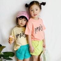 화사한 아동 티셔츠