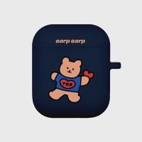 Bear heart-navy(Air Pods)_(1119628)