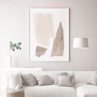 샌드브라운 추상화 인테리어 액자 그림 포스터