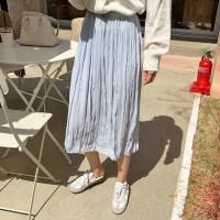 Wrinkle wave banding skirt_K_(1279274)