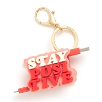 RETRACTABLE CHARGING CORD - STAY POSITIVE (아이폰 케이블)
