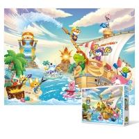 100피스 직소퍼즐 - 뽀로로 해적섬의 여름 (큰조각)_(2094734)