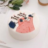 특별한 레터링케이크 추천 뚱이 메세지 케이크