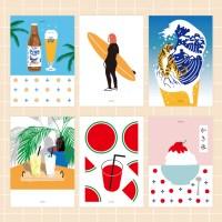 유니크  인테리어  디자인 포스터 M 여름맛 12종 택1