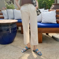 Crop cotton banding pants_Y_(1320299)