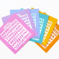 RiCO FONT water sticker 6type
