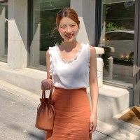 Vintage frill sleeveless blouse_S_(1343481)