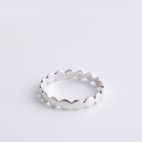 (92.5 silver) circle band ring