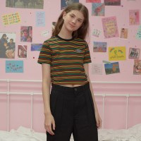 Patch stripe crop-rainbow_(1183510)