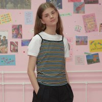Patch stripe sleeveless-pastell_(1183504)