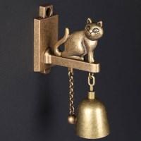 심플 모던 고양이 도어벨 문종