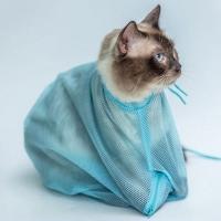 레오프렌즈 고양이 안전 샤워 목욕망 그루밍백