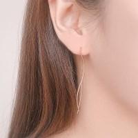 이중 웨이브 로즈골드 귀걸이 OTE119622NPP