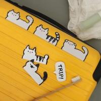 와글와글 우리동네 고양이들 캐리어스티커 12개 세트