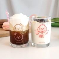 달밤피크닉 유리컵(175ml) 2종